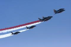 Aerobatic Team Patrouille Des Frankreich Stockfotos