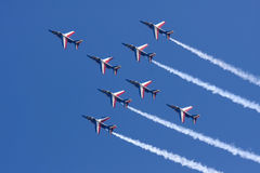 Aerobatic Team Patrouille Des Frankreich Stockfoto