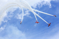 Aerobatic team performing during Oshkosh AirVenture 2013 Stock Images