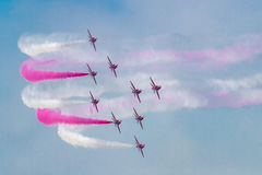 Aerobatic Team perfrom Flugdemonstration bei Airshow China 2016 Stockfotos