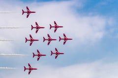 Aerobatic Team perfrom Flugdemonstration bei Airshow China 2016 Lizenzfreie Stockfotografie