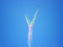 Aerobatic Team ` Rus-` Farbengel Lizenzfreie Stockbilder