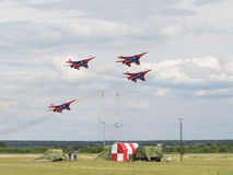 Aerobatic Team Russe Swifts Stockfotos