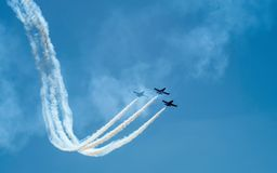 Aerobatic. Team in the sky stock photography