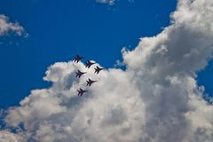 Aerobatic Team ` Swifts-` ` Strizhi-` Stockbilder