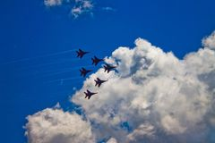 Aerobatic Team ` Swifts-` ` Strizhi-` Stockbild