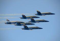 Aerobatic team van de Engelen van de Marine van de V.S. het Blauwe stock foto's