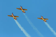Aerobatic team Royalty Free Stock Photography