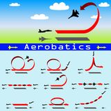 Aerobatics airplane on blue sky background Stock Images