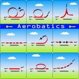 Aerobatics airplane on blue sky background Royalty Free Stock Photography