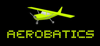 Aerobatics card. Creative design of aerobatics card Stock Photography