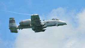 Aerobatics display by A-10 Thunderbolt II Royalty Free Stock Images