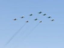 Aerobatics over Moscow Stock Photos