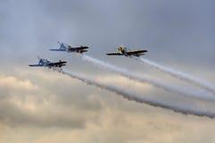 Aerobatics planes show Royalty Free Stock Image