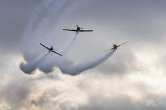 Aerobatics planes show Royalty Free Stock Images