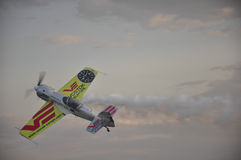 Aerobatics planes show. Aeromania 2014, an aerobatic planes show placed in Tulza airport, near Constanta, Romania Royalty Free Stock Photos
