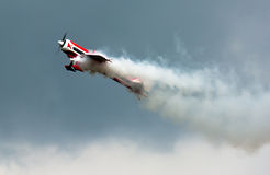 Aerobatics With Smoke Stock Photo