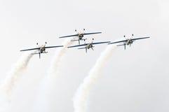aerobaticstjurar som flyger laget Royaltyfri Fotografi