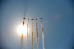 Aerobaticvliegtuigen Stock Afbeelding