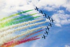 Aerobe Flugzeuge Lizenzfreies Stockfoto