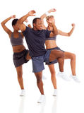 Aerober Tanz der Gruppe lizenzfreies stockbild