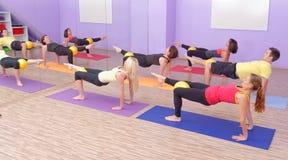 Aerobes Pilates Stockfotografie