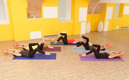 Aerobes Pilates Lizenzfreies Stockfoto