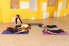 Aerobes Pilates Stockfoto