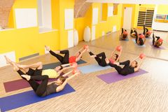 Aerobes Pilates Stockbild