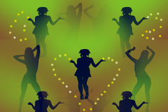 Aerobic dance. Multicolored abstract illustration Royalty Free Illustration