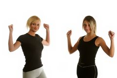 Aerobic exercising Stock Photography