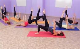 Aerobic Hot Pilates Stock Photo