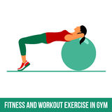 Aerobic icons. Ball exercise Stock Photography