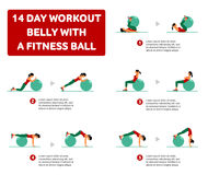 Aerobic icons. 14 day workout Stock Photography