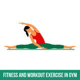 Aerobic icons. full color 11. Fitness, Aerobic and workout exercise in gym. Vector set of gym icons in flat style isolated on white background. People in gym vector illustration