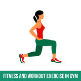 Aerobic icons. full color 24. Fitness, Aerobic and workout exercise in gym. Vector set of gym icons in flat style isolated on white background. woman in gym. Gym Royalty Free Stock Photo