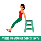 Aerobic icons. full color 29. Fitness, Aerobic and workout exercise in gym. Vector set of gym icons in flat style isolated on white background. woman in gym. Gym Royalty Free Stock Images