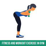 Aerobic icons. Workout. Fitness, Aerobic and workout exercise in gym. Vector set of workout icons in flat style  on white background Royalty Free Stock Photo
