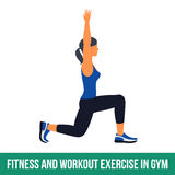 Aerobic icons. Workout. Fitness, Aerobic and workout exercise in gym. Vector set of workout icons in flat style  on white background Stock Photo