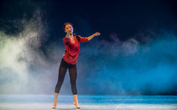 Aerobic-moderner Tanz Stockbild