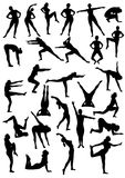 Aerobic movement Stock Photo