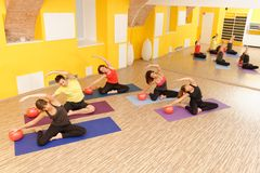 Aerobic Pilates Stock Photography
