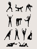 Aerobic Silhouette Royalty Free Stock Photo