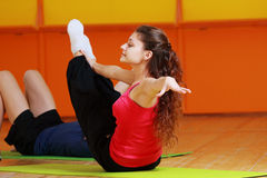 Aerobic woman Royalty Free Stock Images