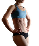 Aerobic woman body Royalty Free Stock Photos