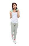 Aerobic woman Stock Image