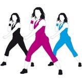 Aerobic women Royalty Free Stock Images
