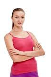 Aerobiceignungs-Frauenporträt Lizenzfreie Stockfotos