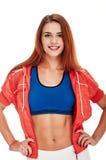 Aerobiceignungs-Frauenporträt Stockbild