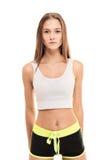 Aerobiceignungs-Mädchenporträt Stockfoto